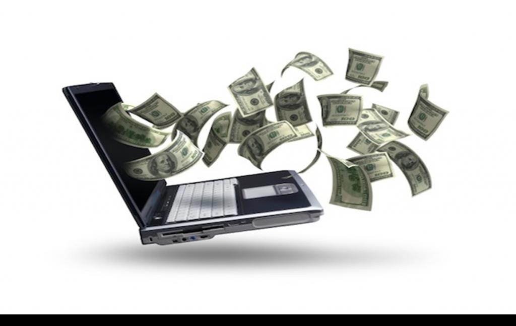 bani dolari din laptop