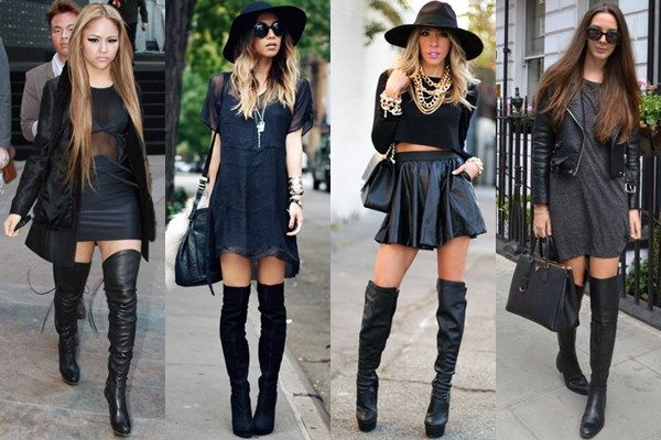 4 outfituri all black